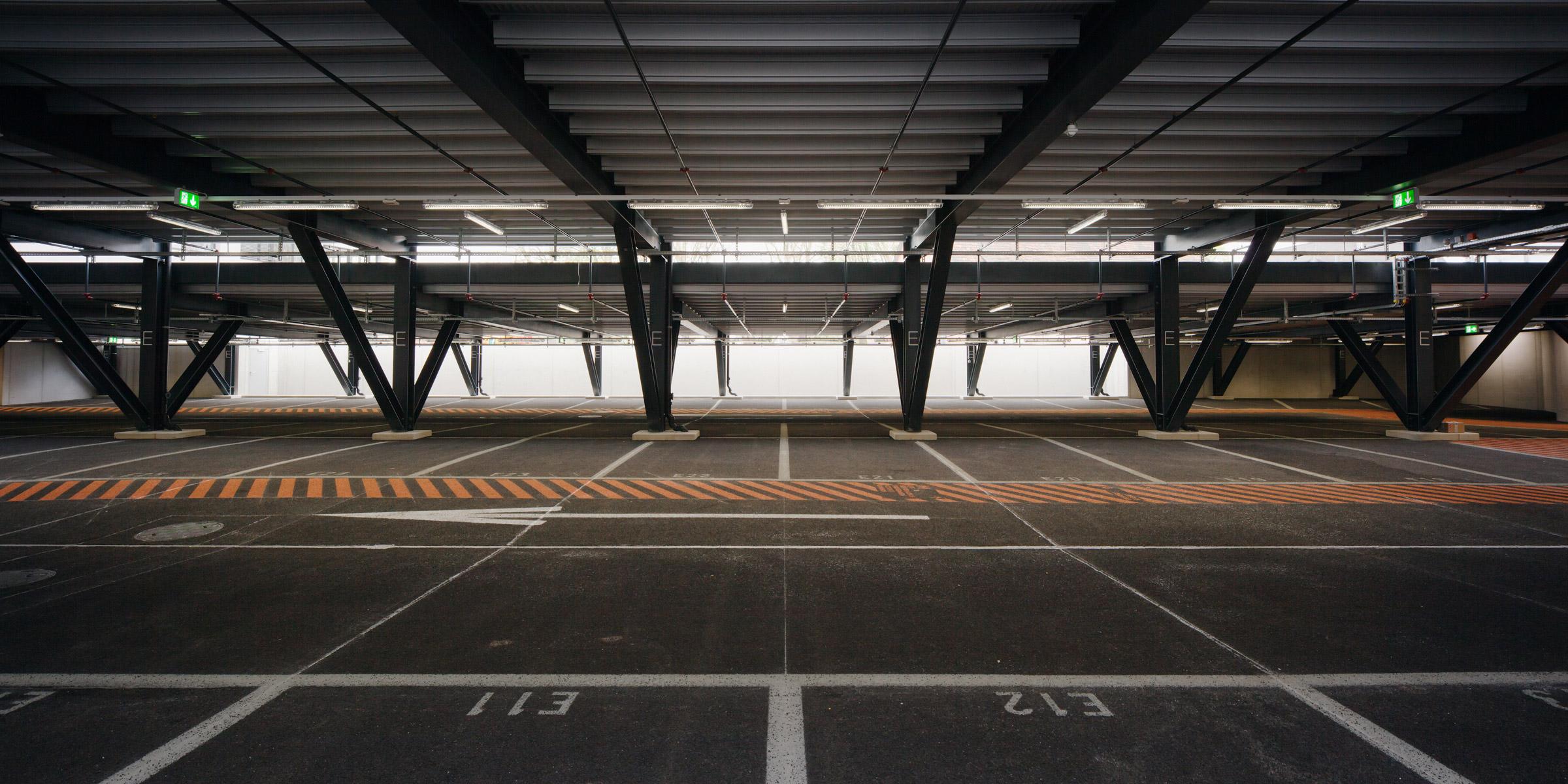 Parkdeck der Erweiterung