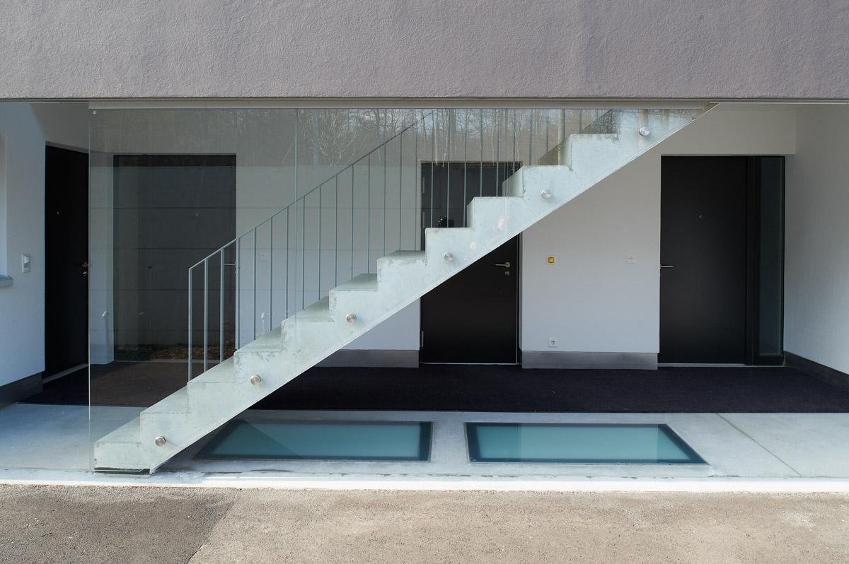 Äusserer Zugang zum Obergeschoss