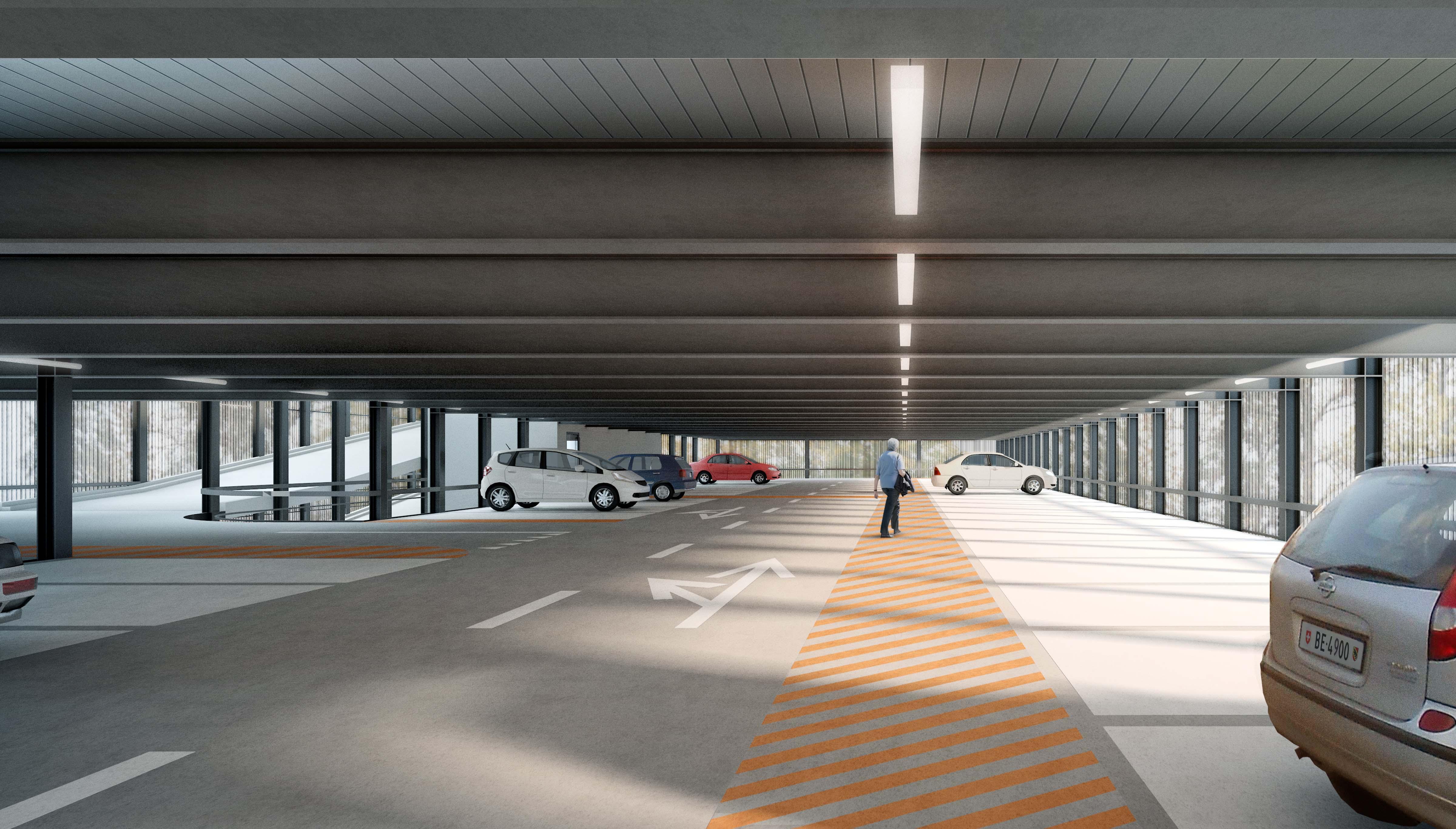 Visualisierung Parkdeck Innen