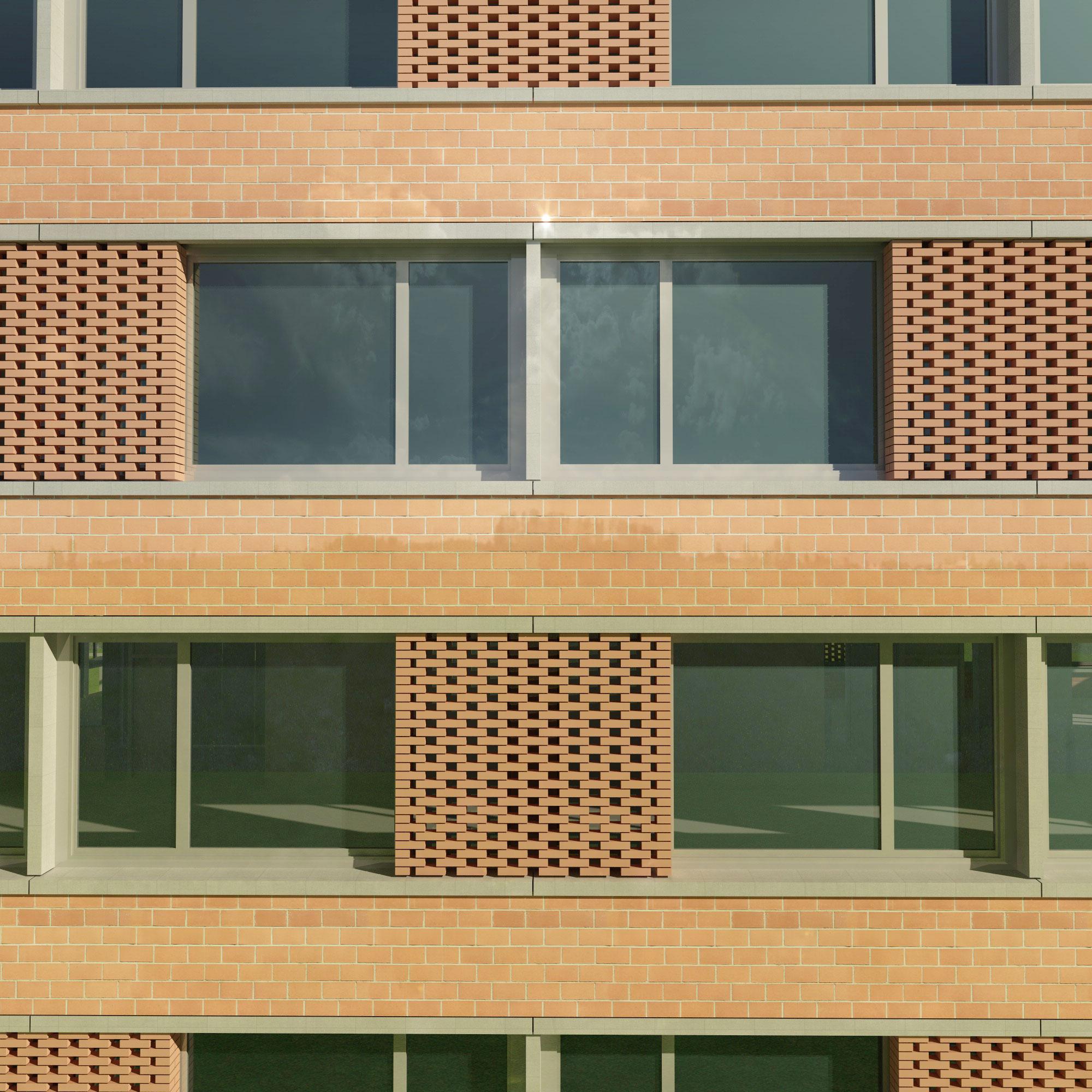 Fassadenstudie Erweiterungsbau