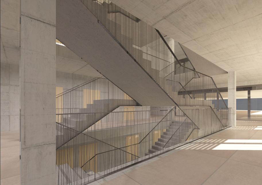 Treppenstudie Erweiterungsbau